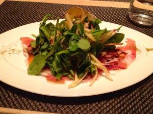 Modified Prosciutto & Burrata Salad