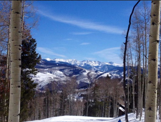 Zach's also features a spectacular view of the Gore Range!