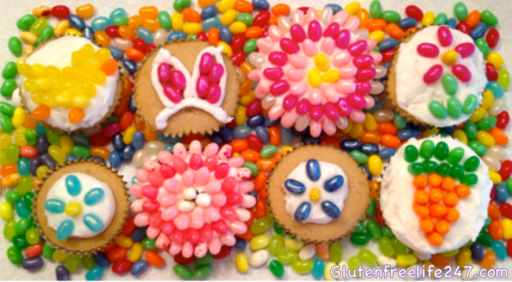 Easter Jelly Belly Cupcakes