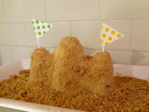 Sandcastle Cake (GF, V)