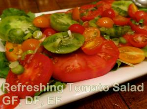 Refreshing Tomato Salad (GF, DF, EF)