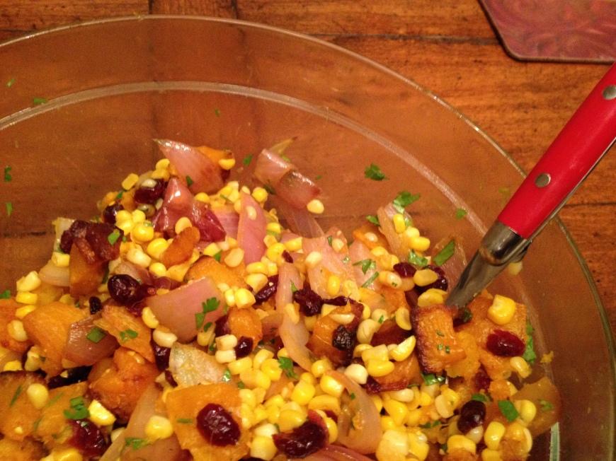 Autumn ButAutumn Squash and Corn Salad (GF, V)ternut and Corn Salad (GF, V)