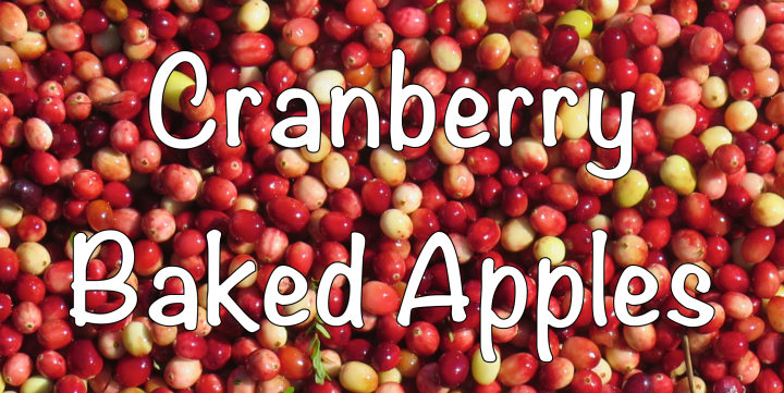Cranberry Baked Apple (GF, V)