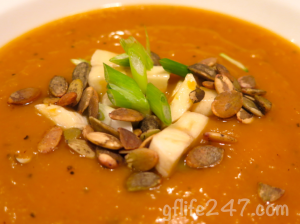 Roasted, Curried Butternut Squash Soup (GF, DF, EF)