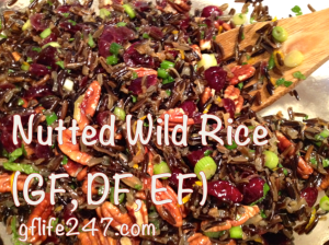 Nutted Wild Rice for Thanksgiving (GF, V)
