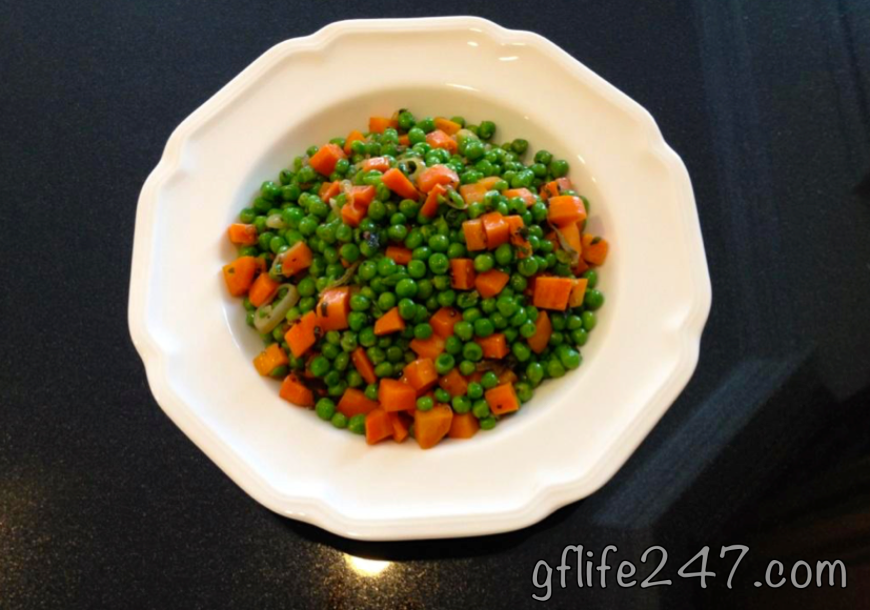 Minty Peas and Carrots (GF, V)
