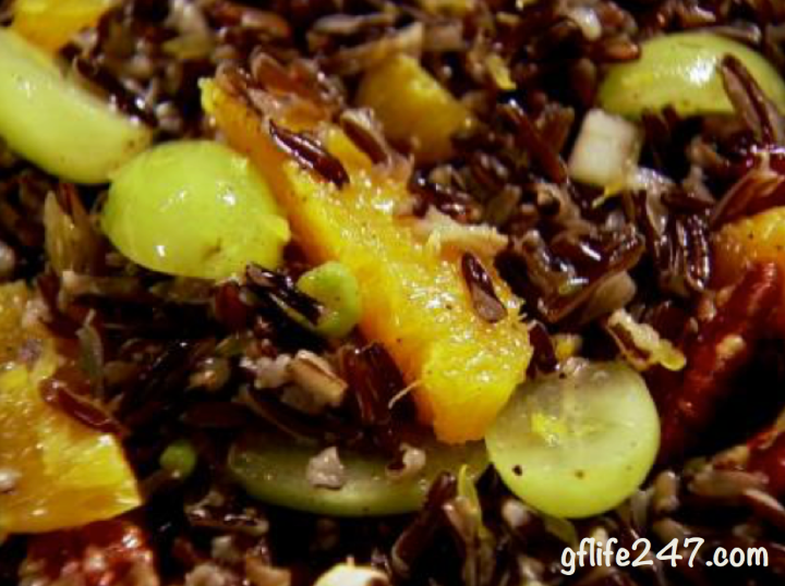 Citrus Wild Rice Salad (GF, V)