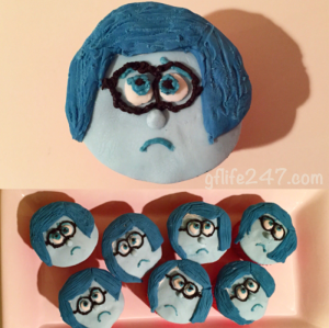 Sadness Cupcakes- Inside Out (Gluten and Dairy Free)