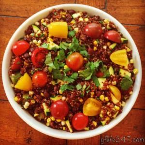 Recipe for Southwestern Quinoa Salad (GF, V)