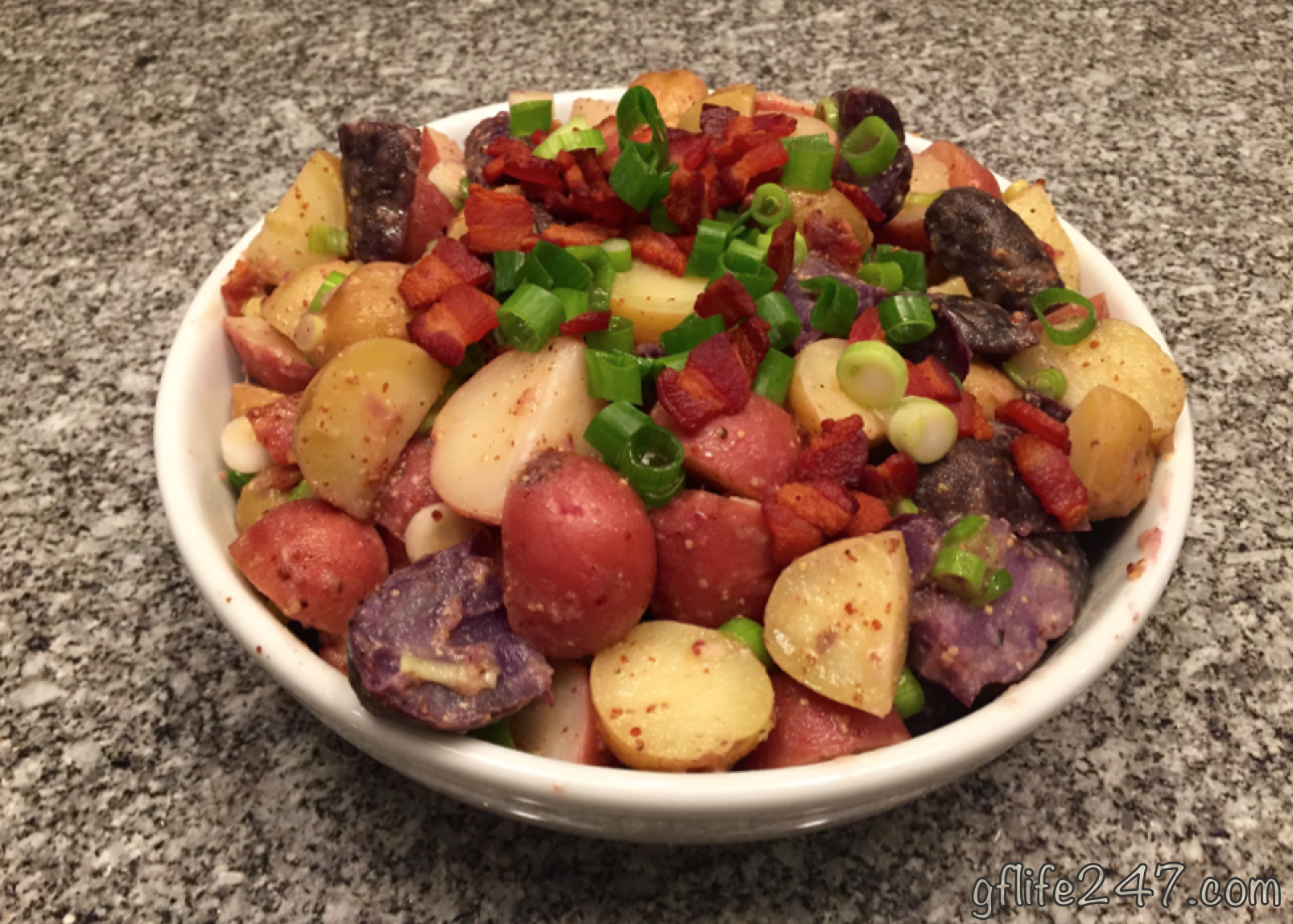 Mayo Free Tri-Colored Potato Salad (GF, DF)