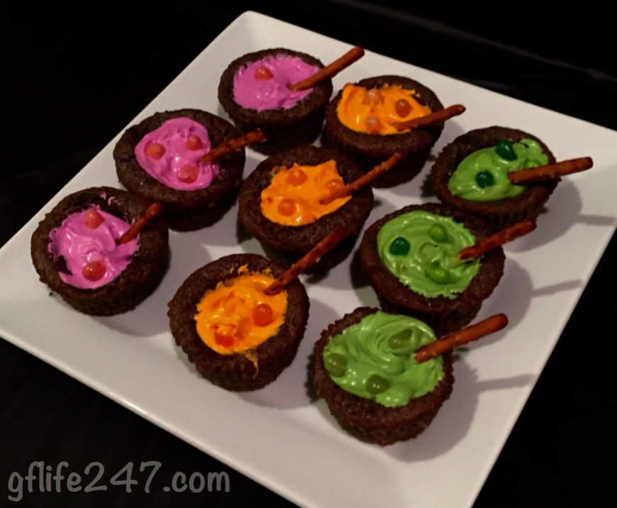Cauldron Cupcakes for Halloween