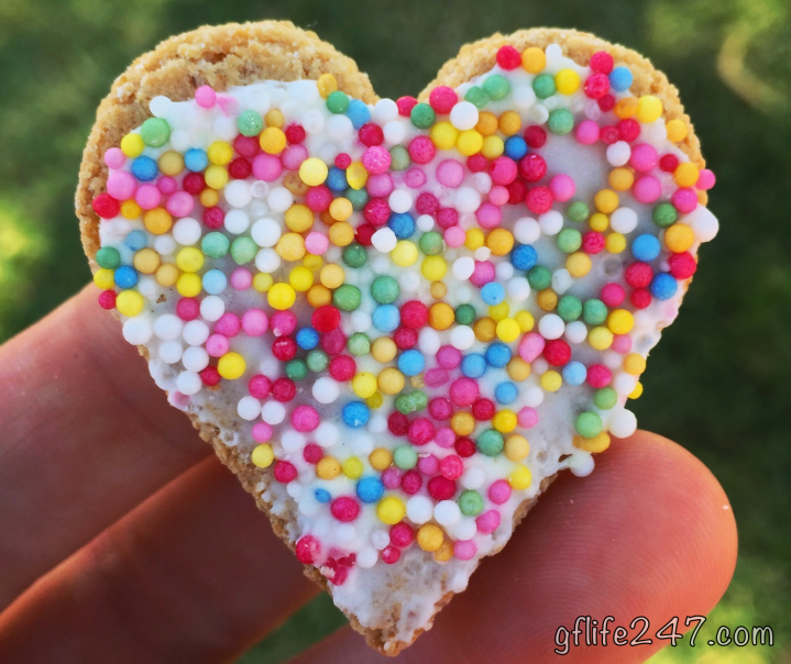 heart cookie rainbow gluten free