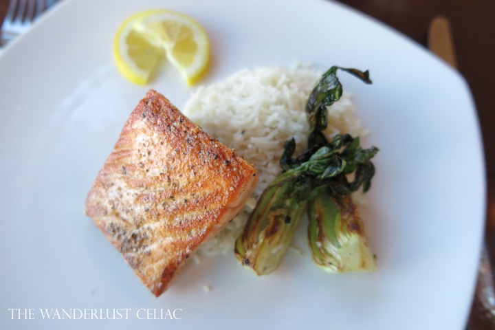 Salmon, Rice, and Bok Choy