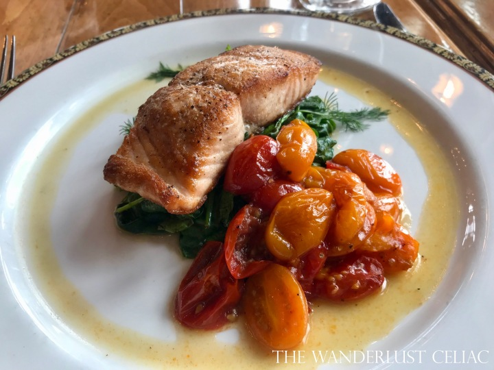 Salmon, Tomatoes, and Spinach