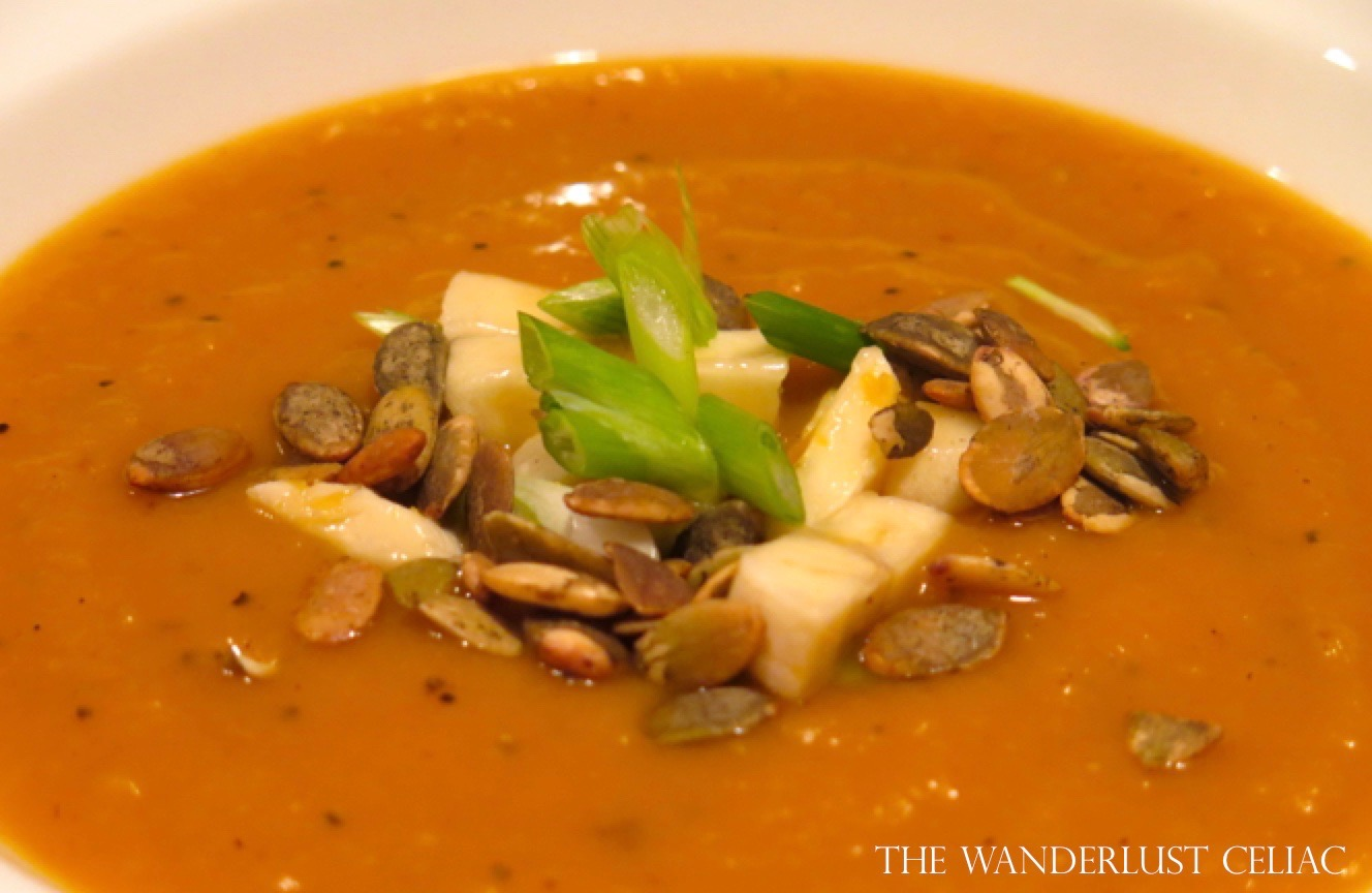 Roasted, Curried Butternut Squash Soup